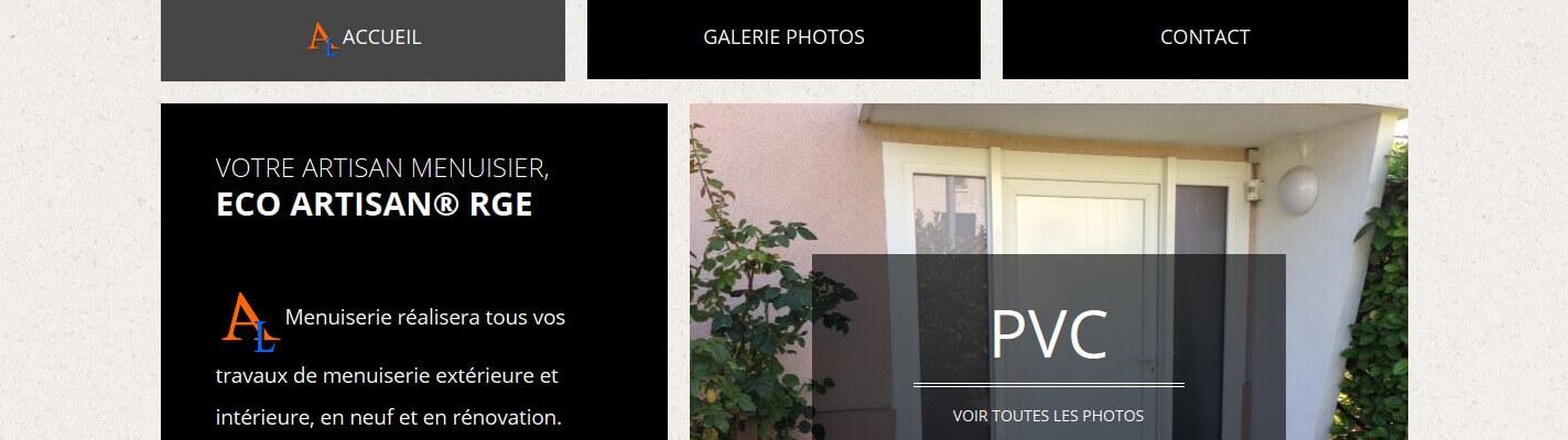 Création site internet www.menuiserie-lionel-astier.fr